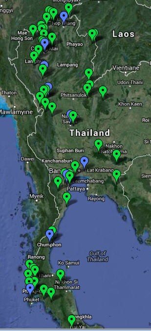 Google Earth and Google Maps Links - North Thailand Birding